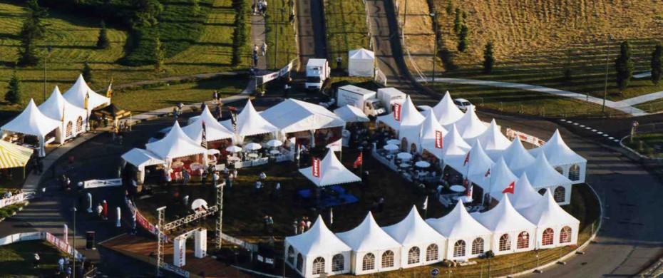 Village réceptif VIP, course automobile, 25 gardens 5mx5m