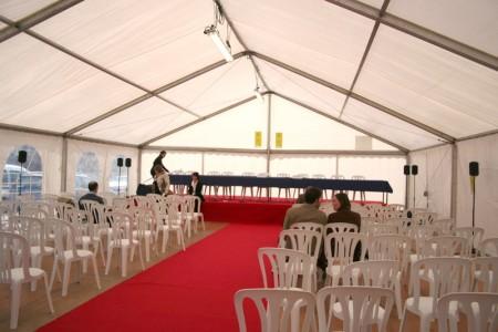 intérieur structure 10m configuration conférence